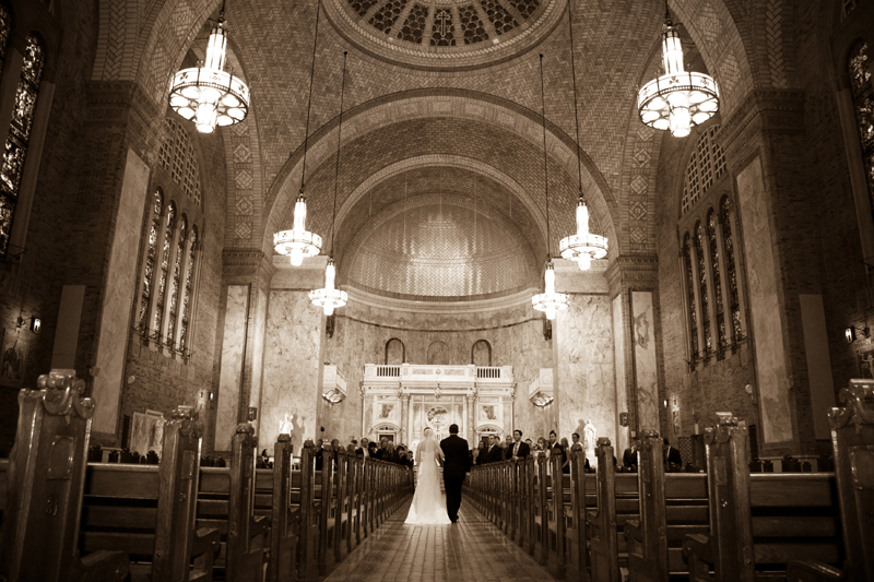 The ceremony took place at the beautiful St. Patricks Church near Rittenhouse Sq.