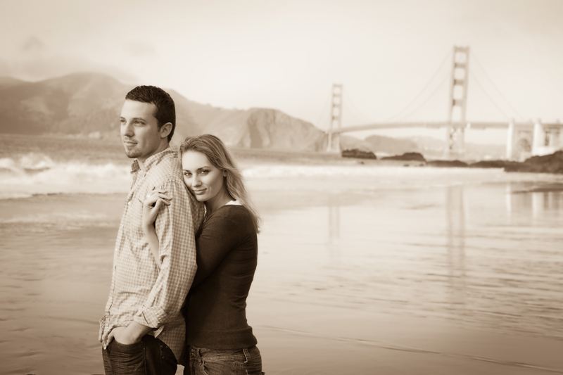 Another great day and engagement shoot at Baker Beach in San Francisco