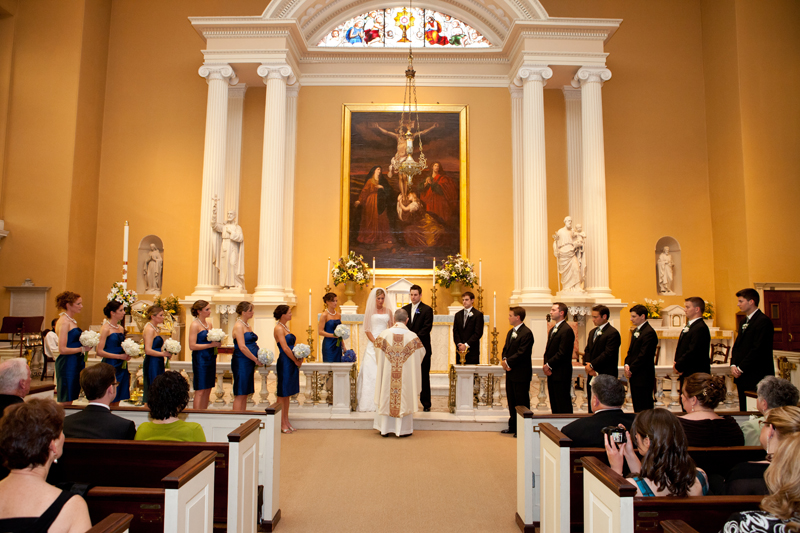 The happy couple had their ceremony at Old St. Joseph