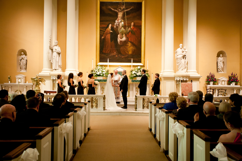 The ceremony took place at the popular Old Saint Joseph's Church